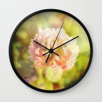 clover Wall Clocks featuring Clover by Magic Emilia