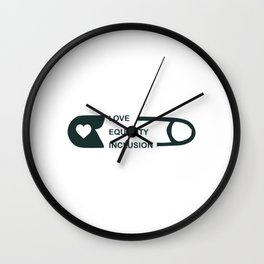 Great for all occassions Inclusion Tee Love Equality Inclusion Wall Clock