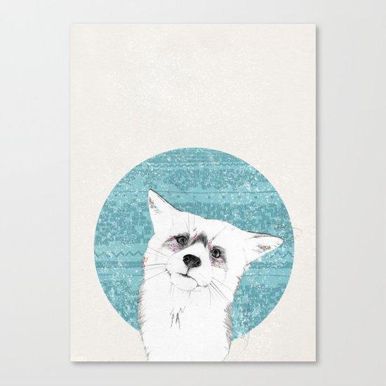 Waiting fox Canvas Print