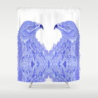 eagle Shower Curtains featuring Eagle by Olya Goloveshkina