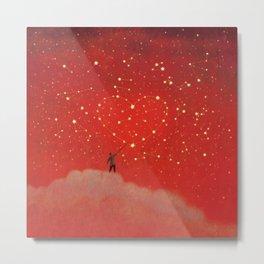 Constellation - Red Metal Print