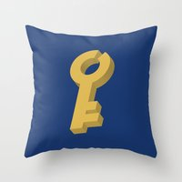 key Throw Pillows featuring Key by Henderson GDI