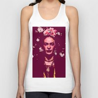 frida Tank Tops featuring Frida by Marialaura