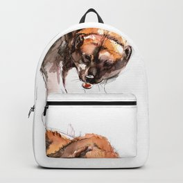 American Gulo gulo watercolor Backpack