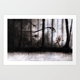 Run as fast as you can Art Print