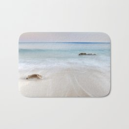 """Serenity beach"". Sunset at the beach Bath Mat"