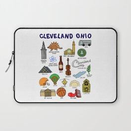Cleveland Ohio Icons Laptop Sleeve