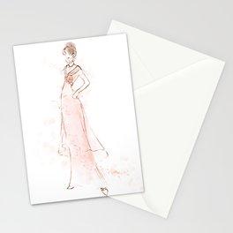 Audrey Hepburn My Fair Lady Pink Fashion Sketch Stationery Cards