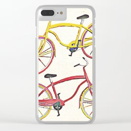 Illustration Bicycle Low Poly Style Clear iPhone Case