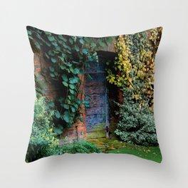 Lewis Carroll's Garden Throw Pillow