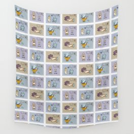 Quartz Crystal Magic Postage Stamps Wall Tapestry