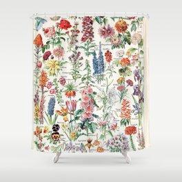 Adolphe Millot - Fleurs pour tous - French vintage poster Shower Curtain