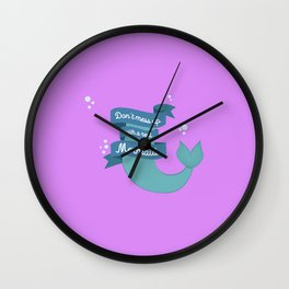 Dont mess up with a mermaid T-Shirt Dvafe Wall Clock