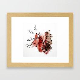 veiny Framed Art Print