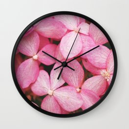 Blooms of Pink Wall Clock