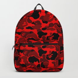 Red camo pattern Backpack