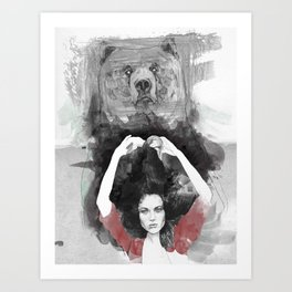 Bear Delux Art Print