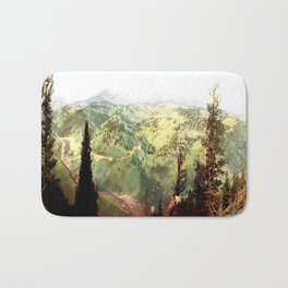 Vintage mountains Bath Mat