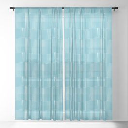 Toilet Paper Rolls in Shades of Blue  Sheer Curtain