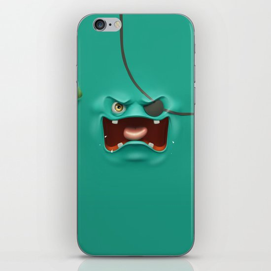 Angry face iPhone & iPod Skin