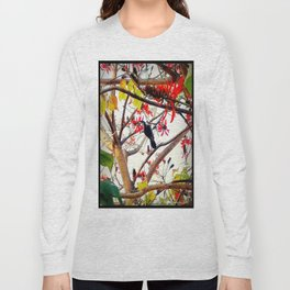 Bird in Coral Tree Long Sleeve T-shirt