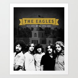 The Eagles Rock Band Hotel Califonia Art Print