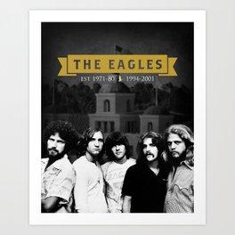 The Eagles Rock Band Hotel Califonia Art Print
