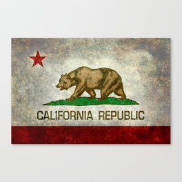 State flag of California in Grunge Canvas Print