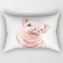 Pink Baby Pig Rectangular Pillow