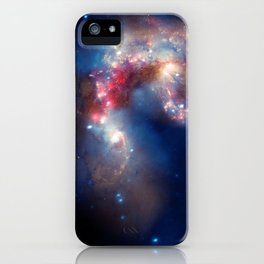 1869. A Galactic Spectacle: A pair of colliding galaxies about 62 million light years from Earth. iPhone Case