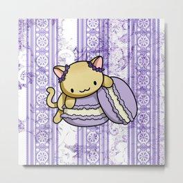 Macaron Kitty Metal Print