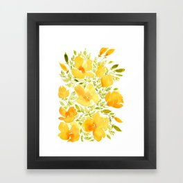 Watercolor California poppies (Quad set, #2) Framed Art Print