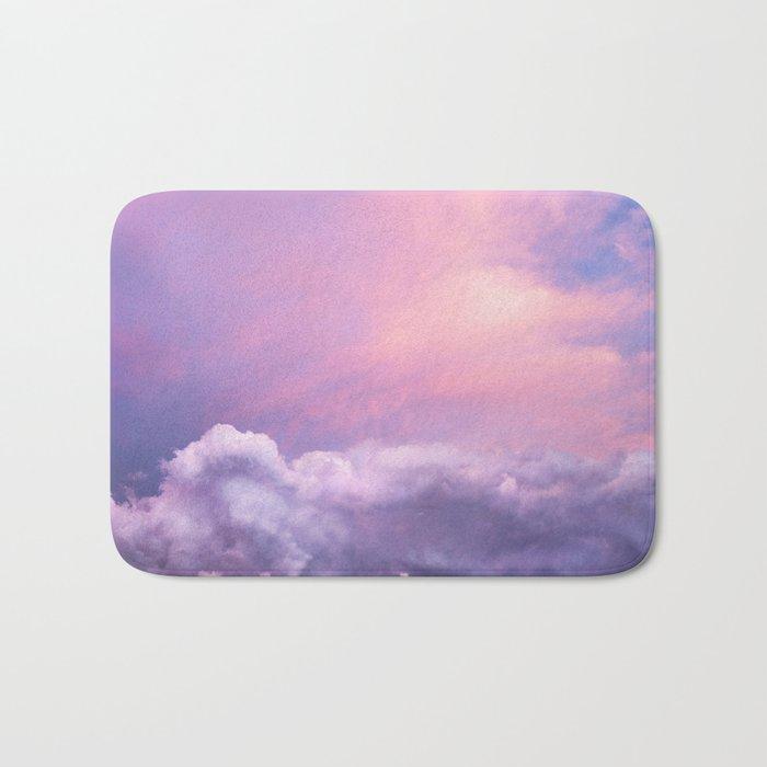 Sunset and Clouds   Blush Pink   Unicorn   Sky Bath Mat