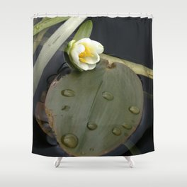 Zen Water Lily Shower Curtain