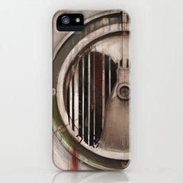(Marlboro Red bar-code) silhouette of lungs against ball bearing  iPhone Case
