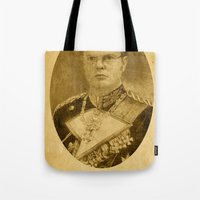 dwight Tote Bags featuring Kaiser Dwight by ThePencilClub