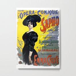 Vintage Première of Massenet's Opéra-comique Sapho Metal Print
