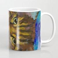 luna Mugs featuring Luna by Michael Creese