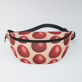 Red dyed eggs pattern Easter gift Fanny Pack
