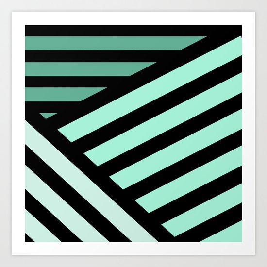STRIPED {MINT} Art Print