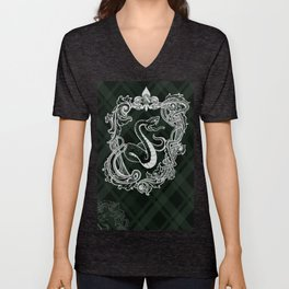 Shield green Snake Unisex V-Neck
