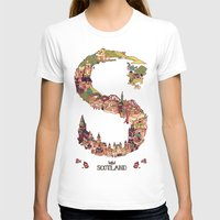 scotland T-shirts featuring S is for Scotland by Kelly Chilton
