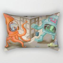 Squid vs Robot Rectangular Pillow