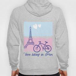 Biking In Paris Hoody