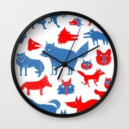 Loups Wall Clock