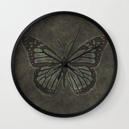 Bronze Monarch Butterfly Wall Clock