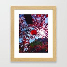Red Lantan Framed Art Print