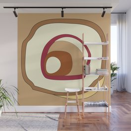 Breakfast in pastel colors - abstract digital art Wall Mural