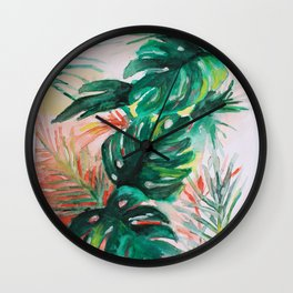 Feuillage 1 Wall Clock