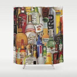 Beer Me Collage Shower Curtain